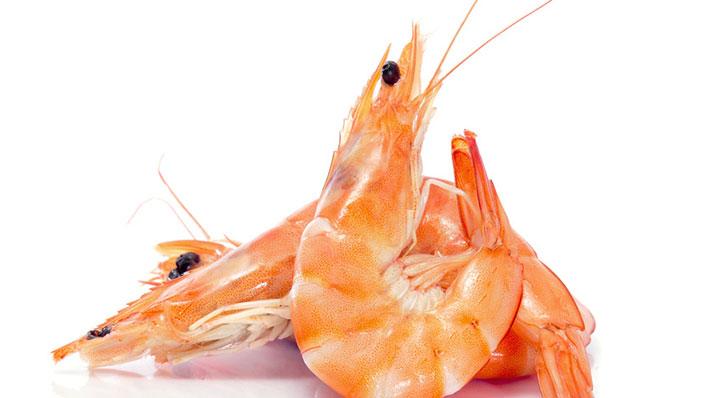 Sous vide tiger prawns with gazpacho from red beet Garnelen Mit Gazpacho Heikoantoniewicz