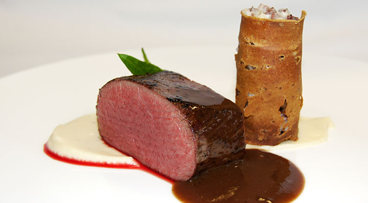 sous vide venison with blood sausage fusionchef by julabo