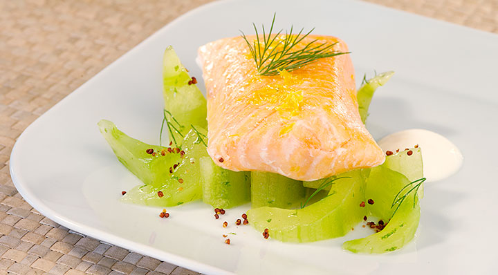 sous vide lachs mit dill fusionchef by julabo. Black Bedroom Furniture Sets. Home Design Ideas