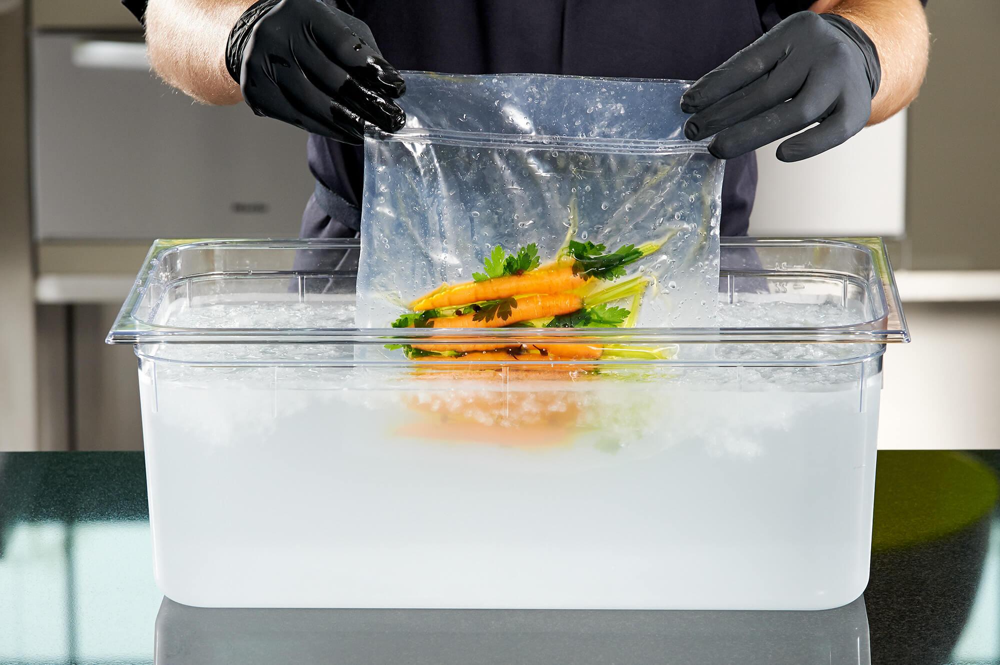 Karotten werden schockgefrostet