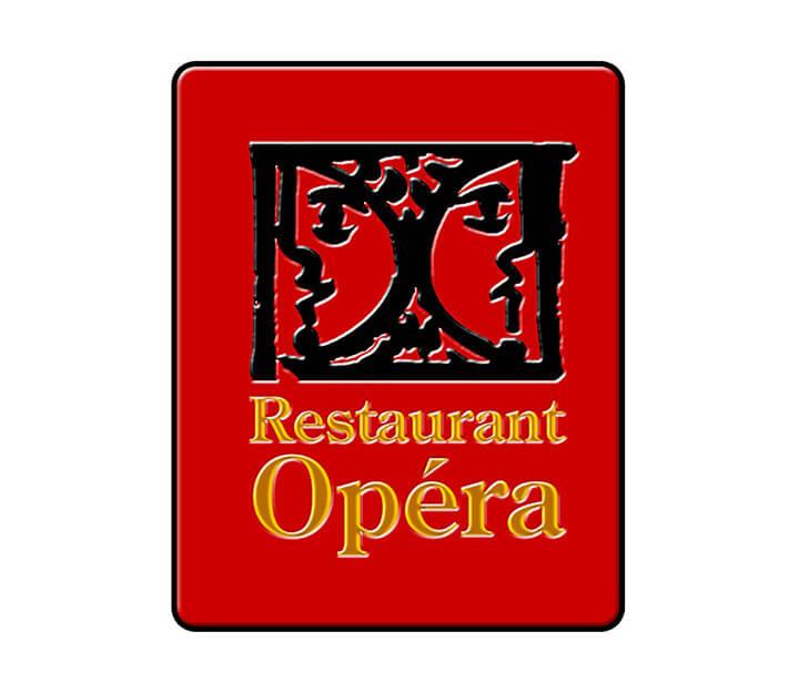 Sous vide restaurant Opéra Opera Logo