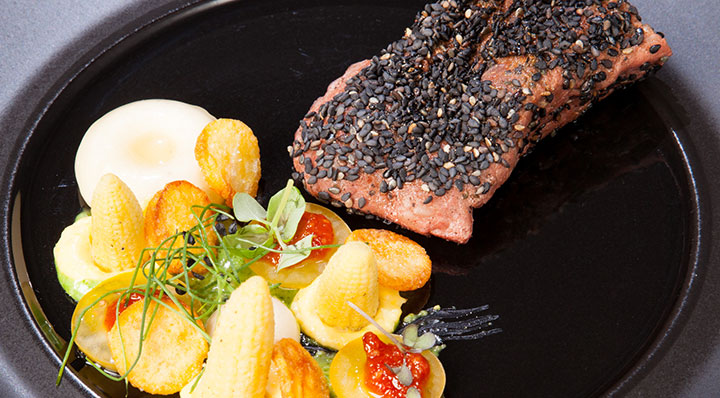 Rinds-Bavette Sous Vide mit Kartoffeln