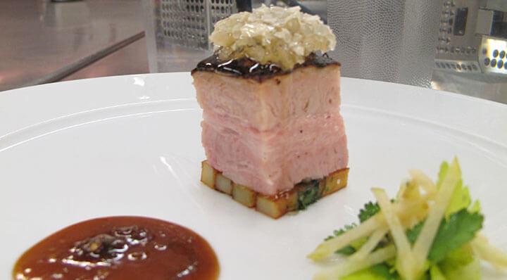 Schweinebauch Sous Vide mit ApfelsalatSchweinebauch Apfelsalat Kenharvey