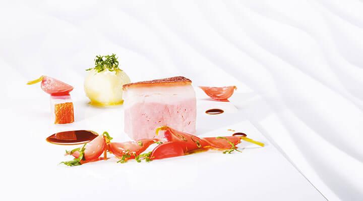 Rôti de porc croustillant sous videSchweinekrustenbraten Kartoffelknoedel Heikoantoniewicz