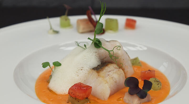 Sous vide hake with smoked eelSeehecht Rauchaal Marcrennhack