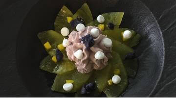 Ananas mit MousseAnanas Lavendel Daniloange