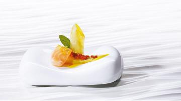Chicory sous vide with salmonChicoree Lachs Heikoantoniewicz