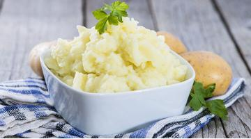 Mashed potatoes sous vide