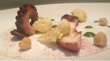 Octopus with cauliflower mixtureOctopus Daniloange