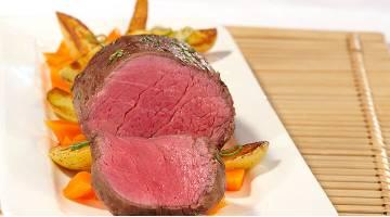 Sous vide filet de bœuf aux carottes et pommes de terre Rinderfilet Heikoantoniewicz