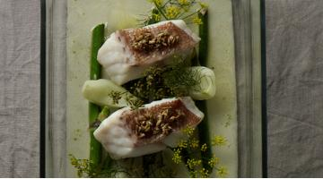 Rose fish with sous vide fennelRotbarsch Fenchel Janphilippberner