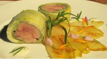Roulade of quail sous videWachtebrustroulade Detlevueter