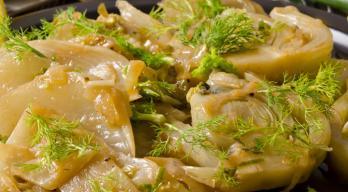 Saffron fennel slices sous vide