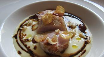 Sous Vide  Spanferkel mit Kartoffel-Parmesan- Püree